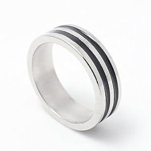 18mm Size PK Finger Ring (Double Black Stripe) - Magic Trick
