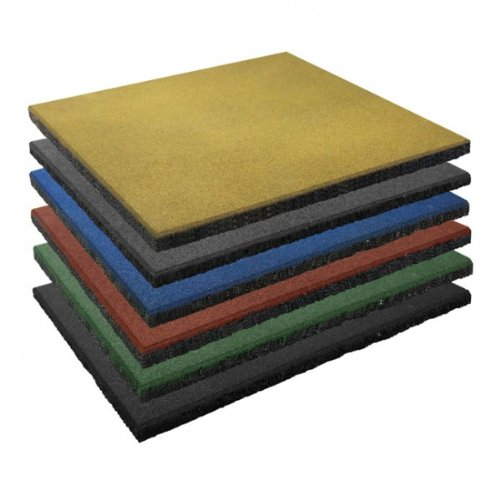 Soft & Safe Rubber Safety Mat Set - 1 sqm - 25mm thick - black