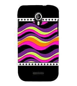 Wave Pattern 3D Hard Polycarbonate Designer Back Case Cover for Micromax Canvas Magnus A117