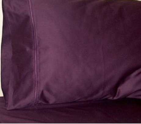 Spectacular Homespell Egyptian Cotton Bed Sheet Set Thread Count Solid Sateen Purple Queen