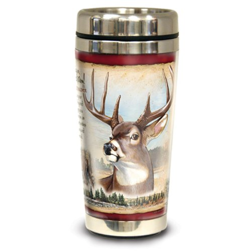 American Expedition Wildlife Steel Travel Mug (Whitetail Deer)
