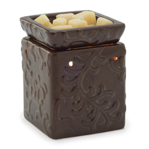 Candle Warmers Etc. Illumination Square Candle Warmer, Century Brown