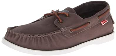 Levis Men's Parker Boat Shoe,Charcoal,9.5 M US