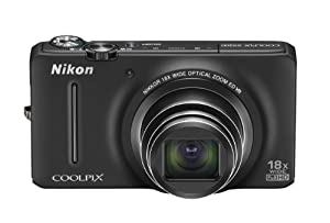 Nikon Coolpix S9200 16 Mp Cmos Digital Camera With 18x Zoom Nikkor Ed Glass Lens And Full HD 1080p Video Black