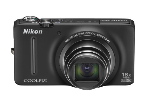 Nikon COOLPIX S9200 16 MP CMOS Digital Camera with 18x Zoom NIKKOR ED Glass Lens and Full HD 1080p Video (Black)