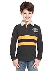 Pure Cotton Striped Arctic Rugby Shirt