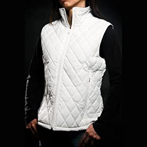 Quilted Nylon Vest - White - 333-S 333-S: Health & Personal Care