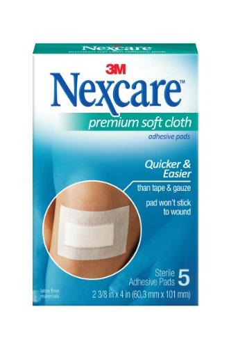 Nexcare Soft Cloth Premium Adhesive Pad 2 3 8 x 4 - 5 eaB0000XQQYG
