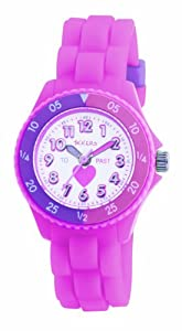 Tikkers TK0003 - Reloj analógico infantil de cuarzo con correa rosa de Tikkers