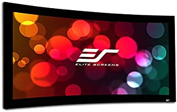 Elite Screens Lunette Series 110-inch 169 Sound Transparent Curved Fixed Frame Projection Screen CUR