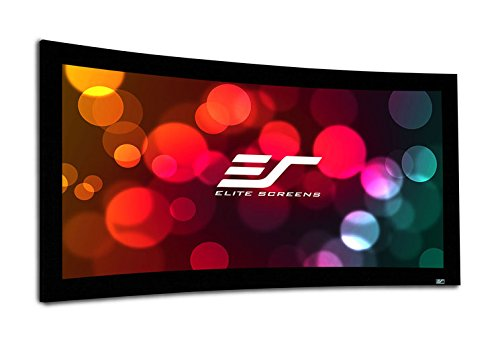 Elite Screens Lunette Series, Curved Fixed Frame Projection Screen, CineWhite Material, 150-inch Diag. 16:9, Curve150WH2