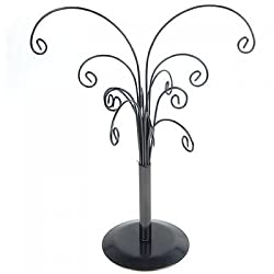 Imported Black Iron Ornament Tree Detachable Display Holder Stand Organizer