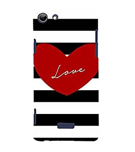 Young Love 3D Hard Polycarbonate Designer Back Case Cover for Micromax Canvas Selfie 3 Q348