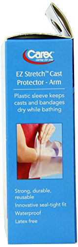 Carex Health Brands E-Z Stretch Cast Arm Protector, 0.15 Pound