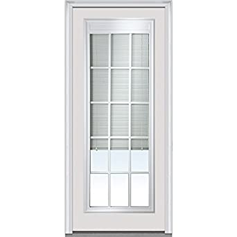 National Door Company Emj689blimlpr28r Entry Door Rehung Right Hand Internal Mini Blinds With