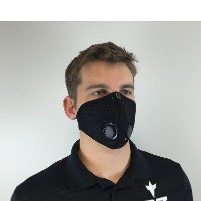 RZ-DustPollution-Mask-Bonus-Pack-w5-Laboratory-Tested-Filters-Model-M2-Mesh-Black-Size-Small
