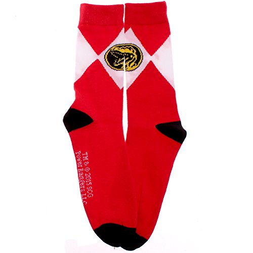 Mighty Morphin Power Rangers Red Ranger Logo Crew Socks (Mighty Morphin Power Rangers Logo)