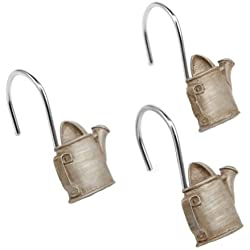 Outhouses Collection Rustic Country Bath Accessories (Shower Curtain Hooks)