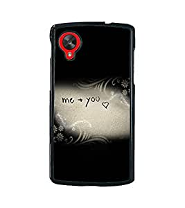 Printvisa 2D Printed Love Designer back case cover for LG Nexus 5 - D4295