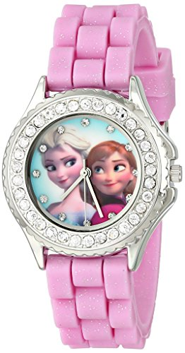 disney-kids-fzn3554-frozen-anna-and-elsa-rhinestone-accented-watch-with-glittered-pink-band