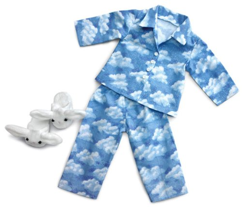 Clud Nine Pajamas and Bunny Slippers ~ Fits 18