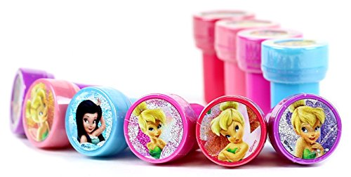 Disney Tinker Bell Self-Inking Stamps / Stampers Party Favors (10 Counts) - 1