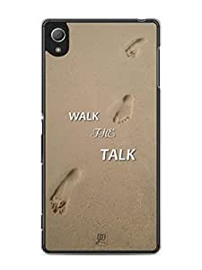 YuBingo Walk the Talk Mobile Case Back Cover for Sony Xperia Z4