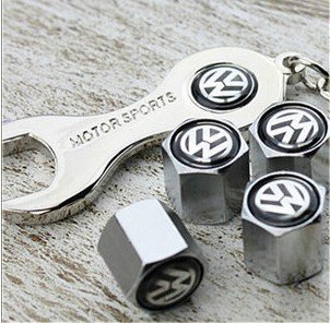 free-shippinghigh-quality-steel-car-air-tire-valve-caps-with-keychain-combo-set-for-volkswagen