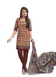 Design Willa Cotton Dress Material Saree (DW0294)