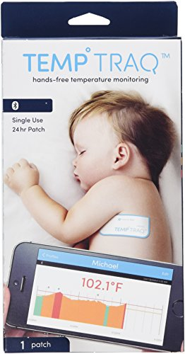 TempTraq Smart Thermometer - 24 Hour Wearable Temperature Tracker with Mobile Alerts by TempTraq