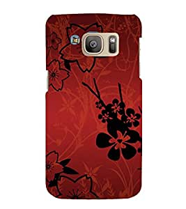 printtech Flower Abstract Pattern Back Case Cover for Samsung Galaxy S7 edge / Samsung Galaxy S7 edge Duos with dual-SIM card slots