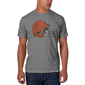 NFL Cleveland Browns Men's '47 Brand Scrum Basic Tee, Wolf Grey, Large