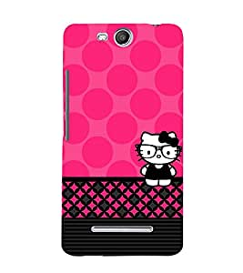 Spects Cat Pink Pattern 3D Hard Polycarbonate Designer Back Case Cover for Micromax Canvas Juice 3 Q392
