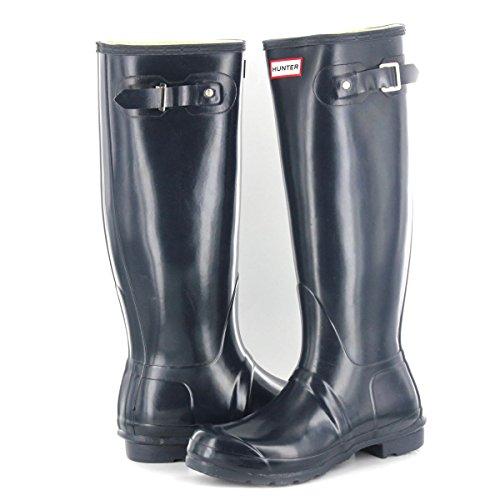 Hunter Original Gloss Tall Navy Womens Wellington Boots Size 6 UK