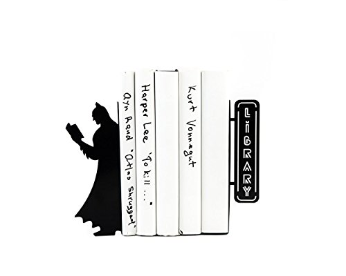 Metal Batman Bookends // Bookshelf Batman // Nursery theme // Kids room decor // Free Shipping Worldwide // Batman room decor comics theme