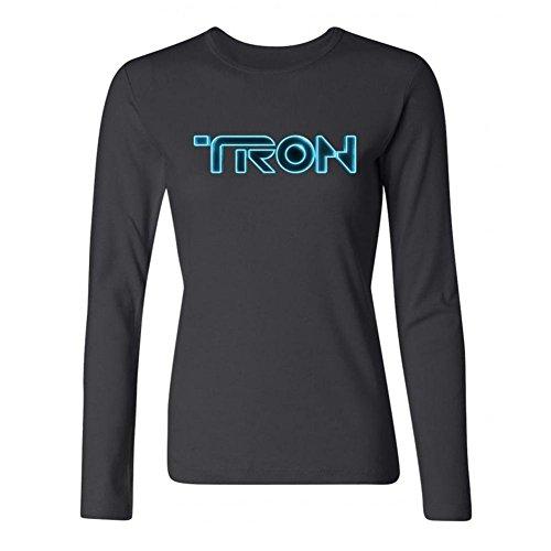 SWWM Women's Tron Logo Long Sleeve Cotton T Shirt