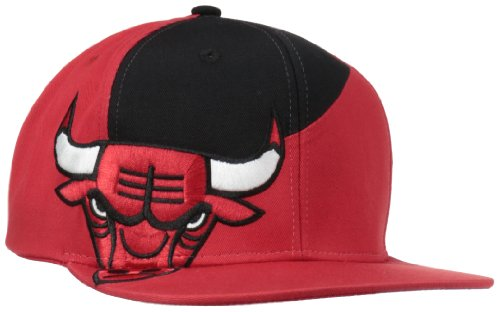 Nba Chicago Bulls Snapback Cut & Sew With Logo On Side Cap, Red, One Size Fits All front-28484