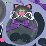 41gg3R6%2B sL. SL160  Black Cat Paper Plate Halloween Craft Kits