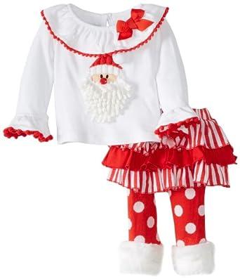 mud pie baby newborn santa skirt set