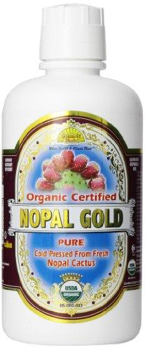 Dynamic Health Nopal Gold - 100% Pure Organic Certified Nopal Juice 32Oz, 32 Fluid Ounce