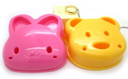 Cyqun(TM) 2Pcs Cute Bear And Rabbit Pocket Sandwich Bread Mold Mould Cutter
