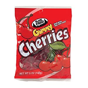 Black Forest Gummy Cherries, 4.5oz Bags (Pack of 12)