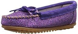 Minnetonka Glitter Moc,Purple,8 M US Toddler