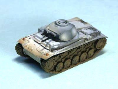 ドイツ軍 �U号戦車 軽戦車 F型 冬季迷彩(ホワイト上塗り)