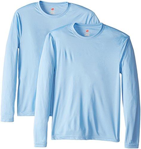 Hanes men 39 s long sleeve cool dri t shirt upf 50 light for Men s upf long sleeve shirt