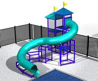 Commercial Water Slide 5780