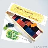 Stockmar Wachsmalblöcke - 24 Farben im Holzkasten von Stockmar