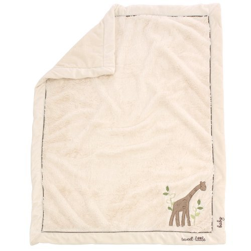 Babies R Us Cuddle Plush Giraffe Blanket - Ivory - 1