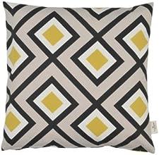 Tom Tailor 561886 T-Yellow Squares Enveloppe de Coussin Coton/Polyester Jaune 40 x 40 cm
