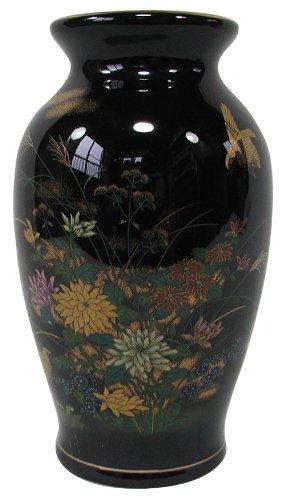 山治陶苑 天目7号ドイツ花瓶 うずら菊 YMJ-017